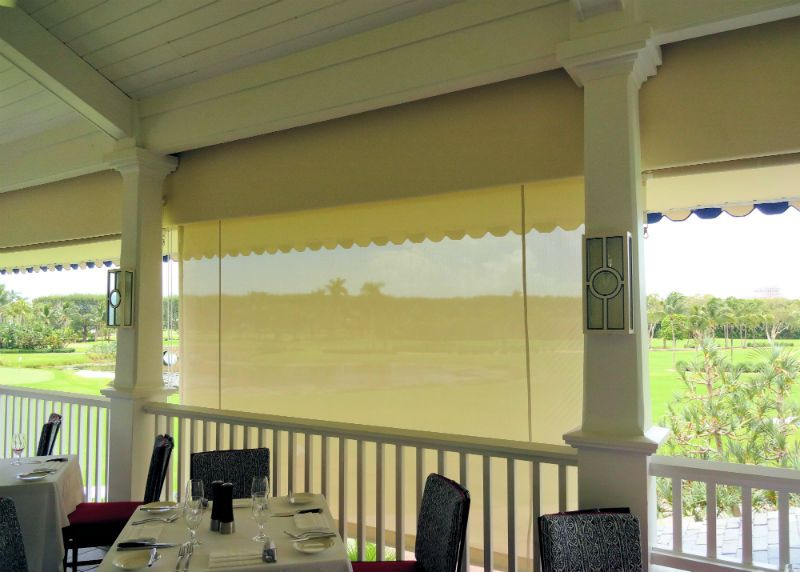 Roll Down Curtains & Screens - Miami Awning Company